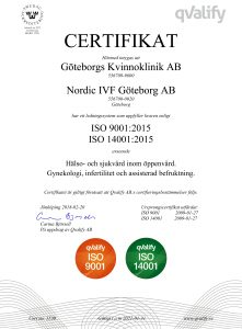 ISO Certifikat Göteborgs Kvinnoklinik